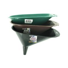 """24 Wide Mouth Funnels 10"""" by FindingKing. $61.99. This wide mouth funnel can be used in your home, your automobile and your work place. A great multi-purpose item. Come in a variety of colors: red, black and blue. Item is packaged loose with a sticker label. Measurements: 6 3/4"""" x 10 3/4"""" opening wide with a 2 1/4"""" funnel insert."""