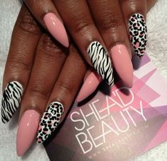 - Coffin Nail Ideas by Tracie Dope Nails, Glam Nails, Bling Nails, 3d Nails, Coffin Shape Nails, Coffin Nails Long, Gorgeous Nails, Pretty Nails, Zebra Nail Designs