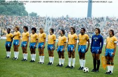 Poster Print-Soccer - World Cup West Germany 74 - Group Two - Brazil v Poster sized print made in the USA God Of Football, Football Team, Champions League, Fifa, Brazil Team, Classic Football Shirts, Soccer World, Big Men, Poster Size Prints