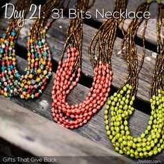 Day 21: 31 Bits Necklace! You're never going to guess what this necklace is made out of. #giftsthatgiveback