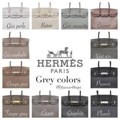 e are some standard Hermes colors and how it looks on the Birkin. I've taken these pictures from various sources and complied them for easy reference.