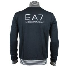 Emporio Armani Mens Tracksuit Top in Navy. For affordable designer fashion visit www.hypedirect.com