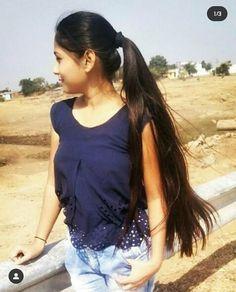 Long Hair Ponytail, Ponytail Hairstyles, Cool Hairstyles, Beautiful Long Hair, Beautiful Women, Indian Beauty, Desi, Black Hair, Hair Beauty