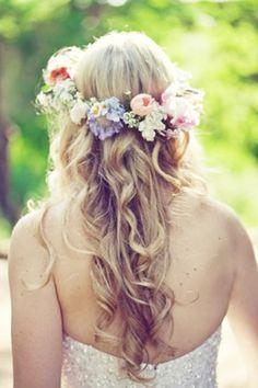 pastel wedding - flower headwear - bridal hair - brides of adelaide magazine