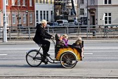 "Cargo bikes: ""Mommy goals."" 