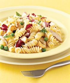Pasta With Peas and Pork from realsimple.com #myplate #protein #vegetables