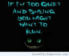 If I'm too quiet and smiling, run! - http://www.loveoflifequotes.com/funny/if-im-too-quiet-and-smiling-run/