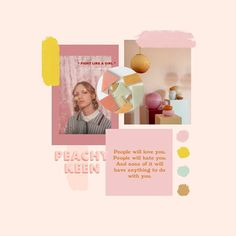Looking back at a bright sunny mood board which is perfect for Spring from my website design project with theinsecuregirlsclub