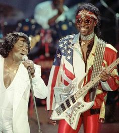 Bootsy Collins and James Brown
