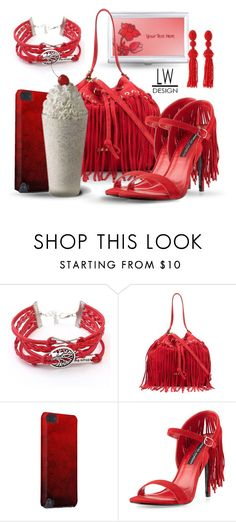 """""""Fringe and a Cherry on Top"""" by kashmier ❤ liked on Polyvore featuring Just Cavalli, Charles Jourdan, Oscar de la Renta, sandals, iphone, bag, business and milk"""