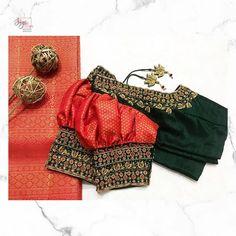 Trendy sari blouse design - The handmade craft Cutwork Blouse Designs, Best Blouse Designs, Simple Blouse Designs, Stylish Blouse Design, Bridal Blouse Designs, Blouse Neck Designs, Pattu Saree Blouse Designs, Blouse Styles, Traditional Blouse Designs