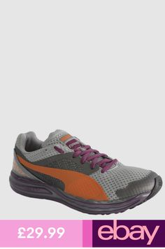 168c0b37a74b Puma Faas 800 S Womens Trainers Running Shoes Grey Orange Lace Up 186314 02  D22
