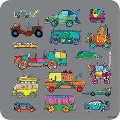 Cork coaster PK0037 - Cars | Gift & Design | Comarch e-Sklep