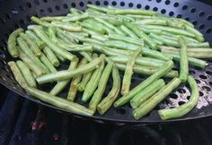 Grilled Green Beans - Allrecipes.com - Great for the summer. Quick & Easy! #MyAllrecipes #IMadeIt #AllrecipesAllstars