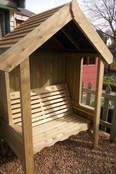Garden Arbour Seat Pergola Trellis Corner Wood Arch Bench Patio Furniture
