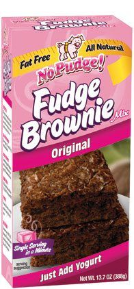 No Pudge Fat Free Brownie Mix is made from only the finest all natural ingredients using no artificial flavors, colors or preservatives. Just add fat-free vanilla yogurt, mix and bake. No Pudge Brownie Recipe, Brownie Recipes, Brownie Icing, Gourmet Recipes, Snack Recipes, Dessert Recipes, Fudgy Brownies, Vanilla Yogurt, Fudge