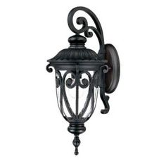 Acclaim Lighting Naples Collection Wall-Mount 1-Light Outdoor Matte Black Light Fixture-2112BK at The Home Depot