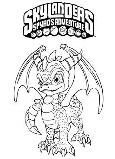 8 Best Ausmalbilder Skylanders Images Skylanders Coloring Pages
