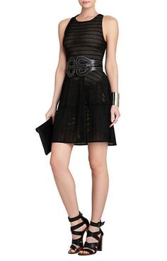 BCBGMAXAZRIA Cassandra Sleeveless A Line Lace Dress on shopstyle.com
