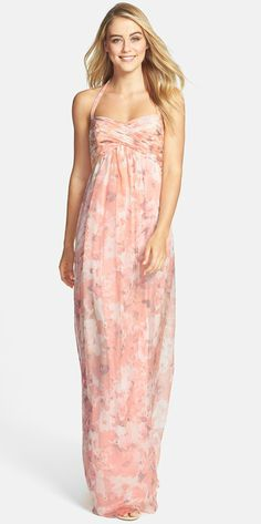 Floral bridesmaid dress by Amsale