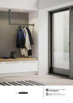 Vaatekaapit ja säilytysratkaisut 2016 - New Ideas Luxury Bedroom Design, Interior Design, Garderobe Design, Porch Storage, Living Room Decor, Bedroom Decor, Flur Design, Wardrobe Room, House Entrance