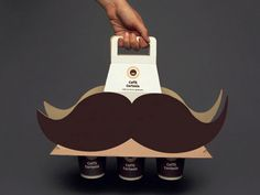 I mustache you a question. Do you like coffee? Great use of graphics and structure in branding