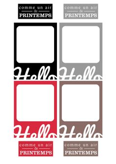 Free Journal Cards and Labels {French}