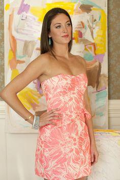 Strawberry Strapless Peplum Dress