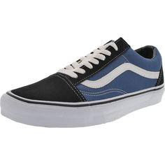 Vans - Men's Low Top Canvas Sneakers - White/Navy