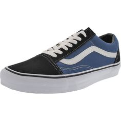 Vans - Men's Low Top Canvas Sneakers - White/Navy