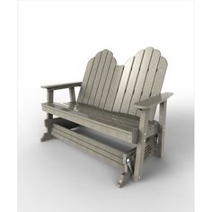 Malibu Outdoor Living Recycled Plastic Yarmouth Double Patio Glider Chair