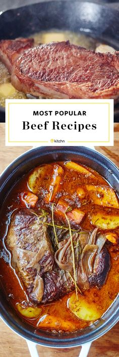Our Most Popular Beef Recipes for dinners and meals. Looking for ideas for easy weeknight meals? Some are quick and fast; some are slow cooked in ovens and some are simmered and braised slowly in slow cookers or crockpots. Lots of comfort food main dishes to choose from. Serve your family something healthy using ground beef, brisket, pot roast, stroganoff, chinese fried rice or stir fry, taco casserole, and more.