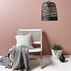 A pink wall makes us so happy - especially this dirty blush tone. Resene Bonanza…