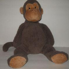 "Pottery Barn Kids Brown Marley Monkey 18"" Marlie Plush Stuffed Animal Doll PBK #PotteryBarnKids"