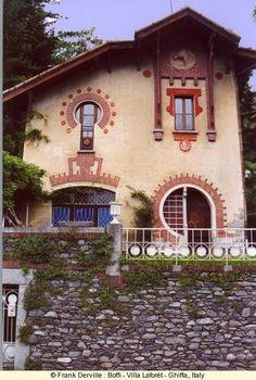 The Art Nouveau  Architecture | Architecture & Art / Art Nouveau ~ Villa Laforet, Ghiffa, Italy