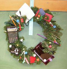 #Math #Christmas wreath :)