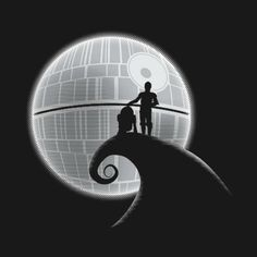 Awesome 'Star+Wars+The+Nightmare+Before+Christmas' design on TeePublic! - Funny Cool Shirt (SciFi Tshirts)