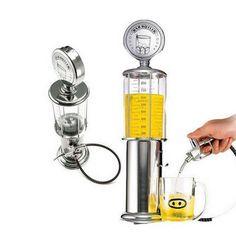 Antique Gas Pump Beverage Dispenser