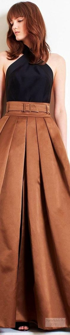 closet ideas women fashion outfit clothing style apparel Martin Grant Fall 2016 RTW l Ria Cool Outfits, Fashion Outfits, Womens Fashion, Fashion Tips, Fashion Skirts, Elegant Outfit, Couture Dresses, Belts For Women, Autumn Fashion