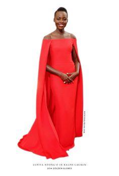 Lupita Nyong | Ralph Lauren | Golden Globes 2014