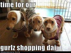 Girls shopping.