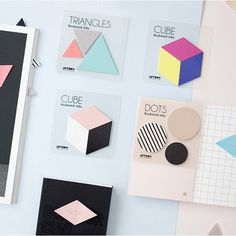 Jstory Index cute dots triangles sticky bookmark tabs - fallindesign