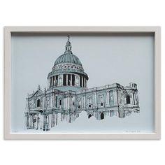 Impresión de edición limitada St Paul's Cathedral de Mr Wingate,51x36cm en www.achica.es