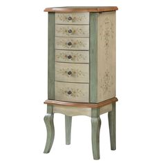 Kathy Ireland Distressed Blue Jewelry Armoire found at JCPenney