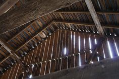 Old Barn Inside Roof