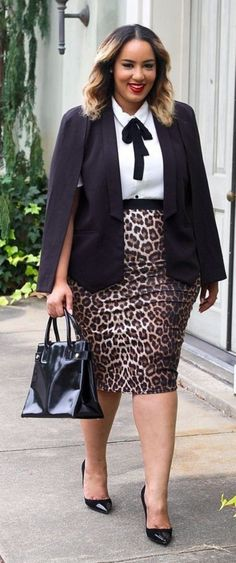 40 Plus Size Outfits For Office Women | http://hercanvas.com/plus-size-outfits-office-women/
