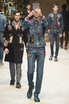 Catch the Kitsch: Vogue's 2016 Fall Menswear Trends // Dolce & Gabbana