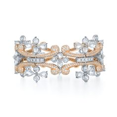 diamond bracelets for women | Diamond bracelet with rose cut diamonds from the Melody Collection in ...