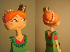Paper Mache Princess / Princesa de papel mache