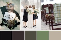 Wedding color schemes for winter winter rustic glam a sage green and black wedding colour palette . wedding color schemes for winter Black Color Palette, Color Schemes Colour Palettes, Nature Color Palette, Colour Pallete, Sage Wedding, Rustic Wedding, Dream Wedding, Wedding Blog, Wedding Songs